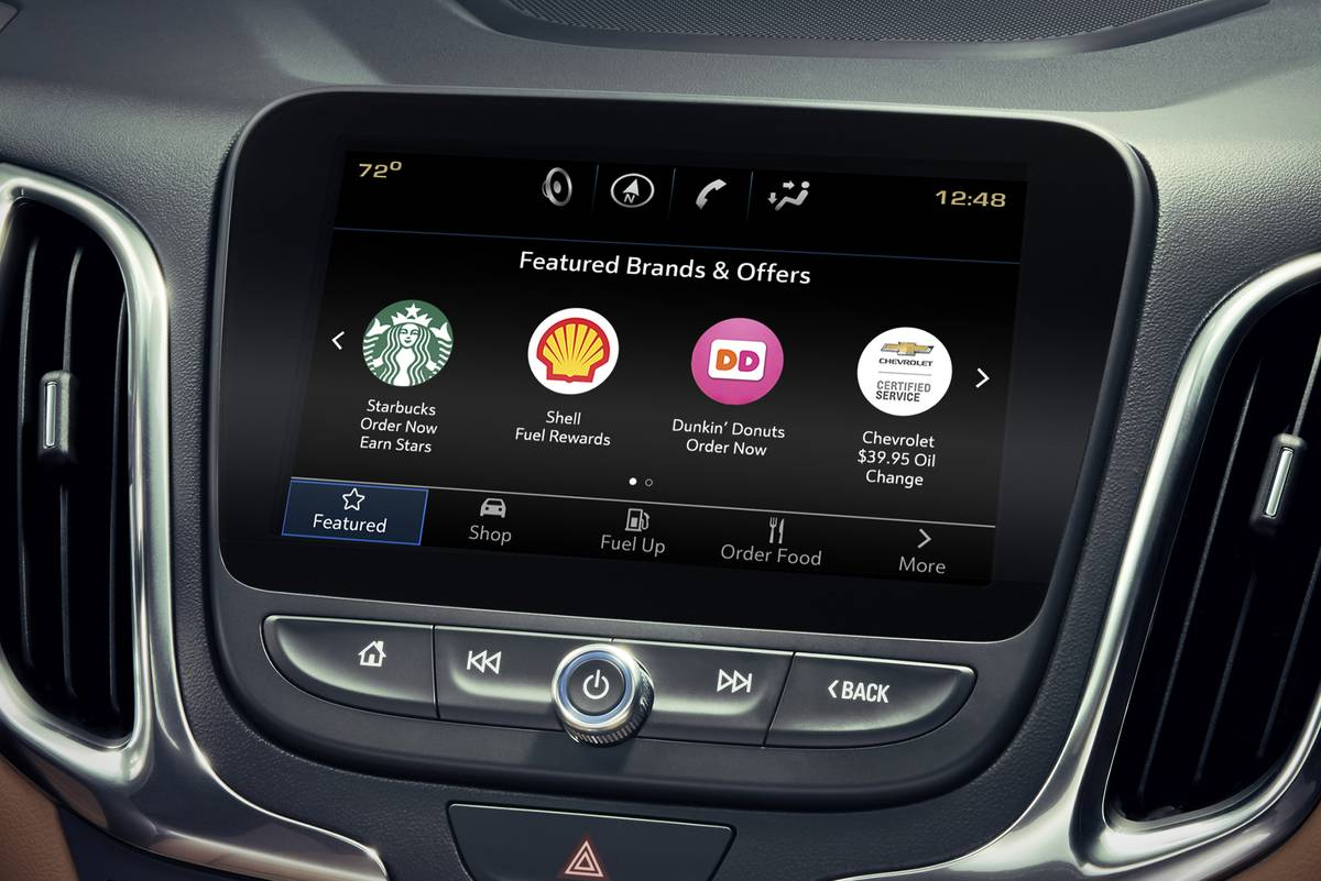 GM lets customers order their morning coffee with their car.