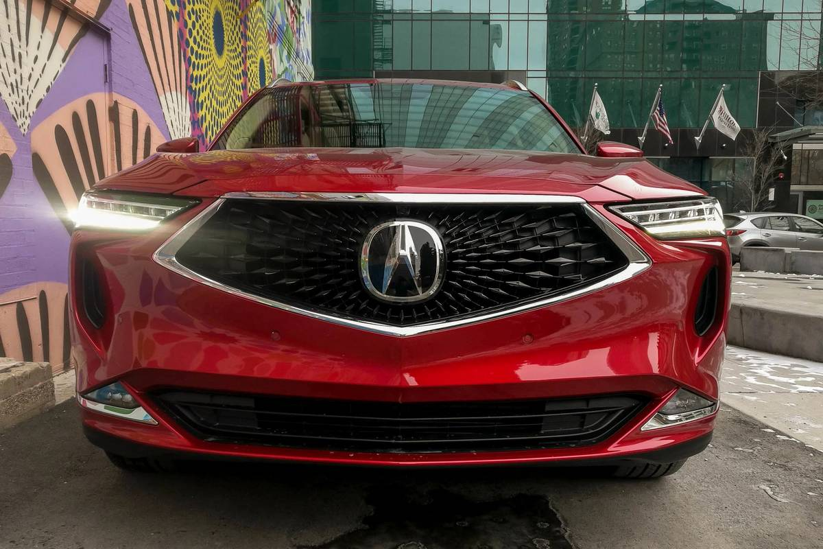 Red 2022 Acura MDX