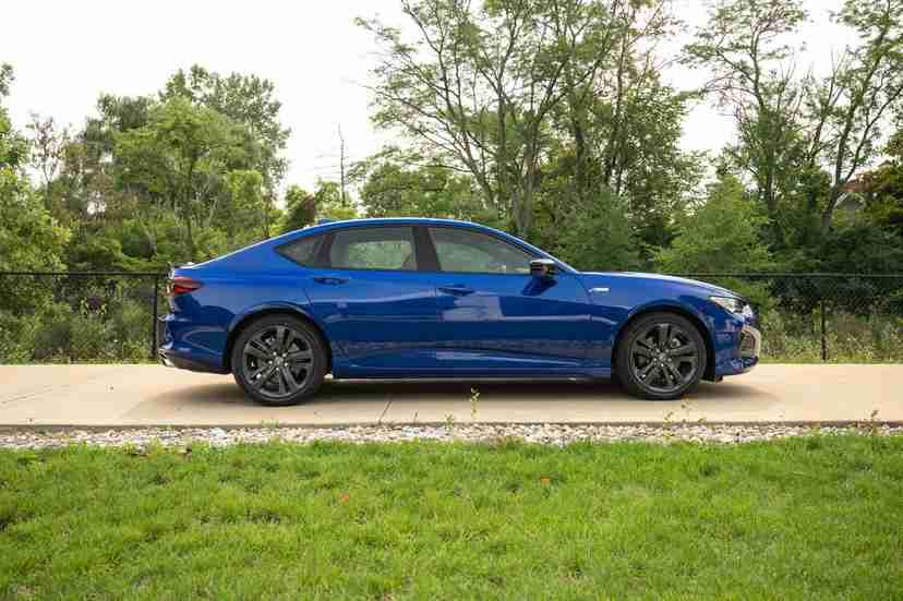 Blue 2021 Acura TLX