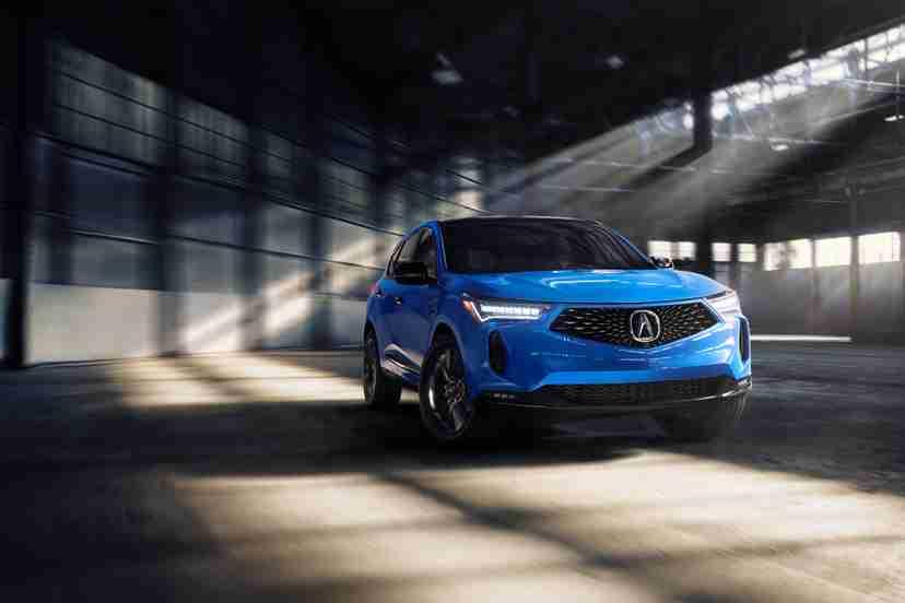 acura-rdx-2022-pmc-edition-009-angle-blue-exterior-front-interior-suv
