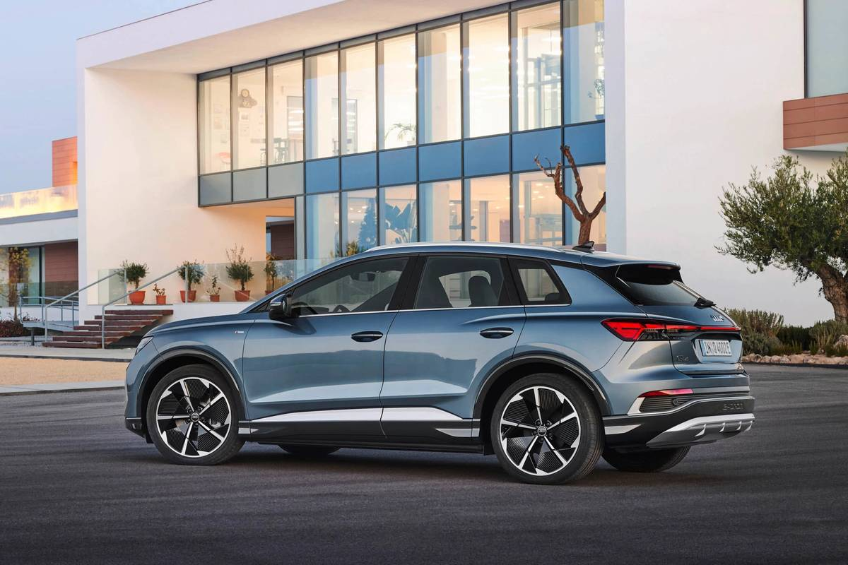 Audi Debuts Entry-Level EV, Q4 E-Tron SUV, for Less Than $45,000