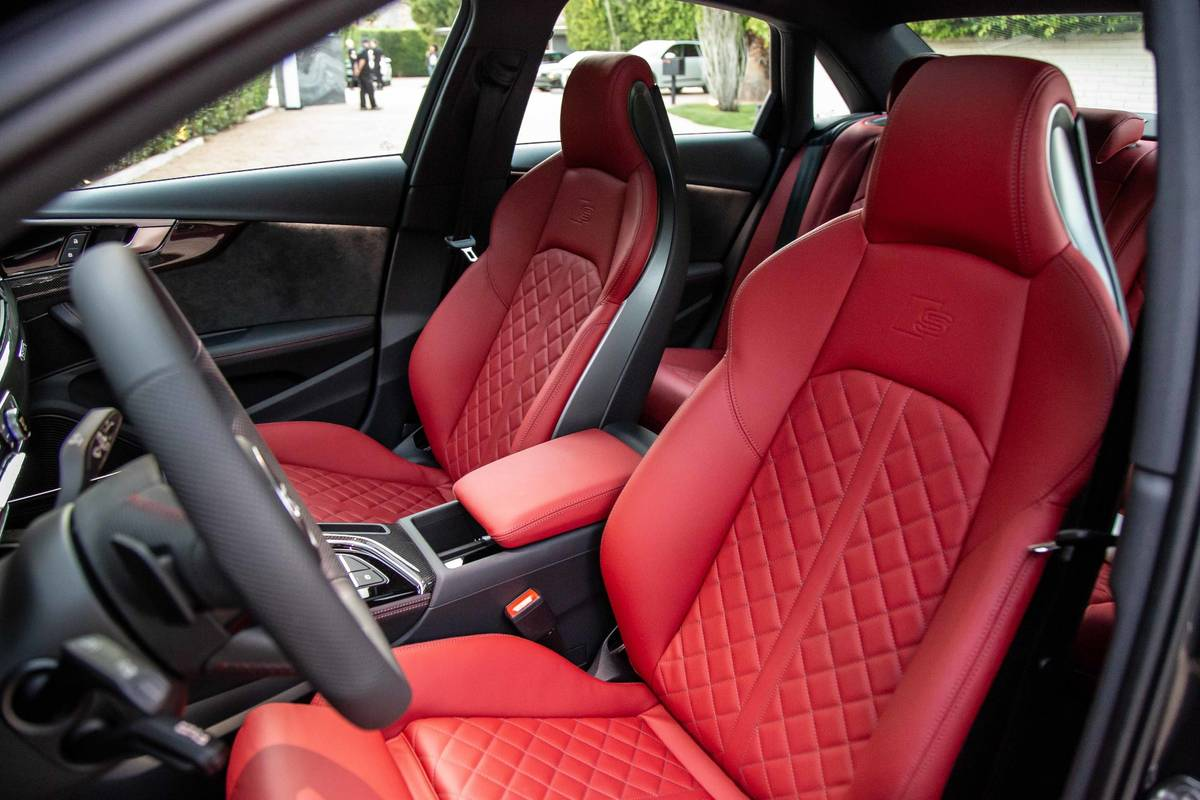 2020 Audi S4 red front seats