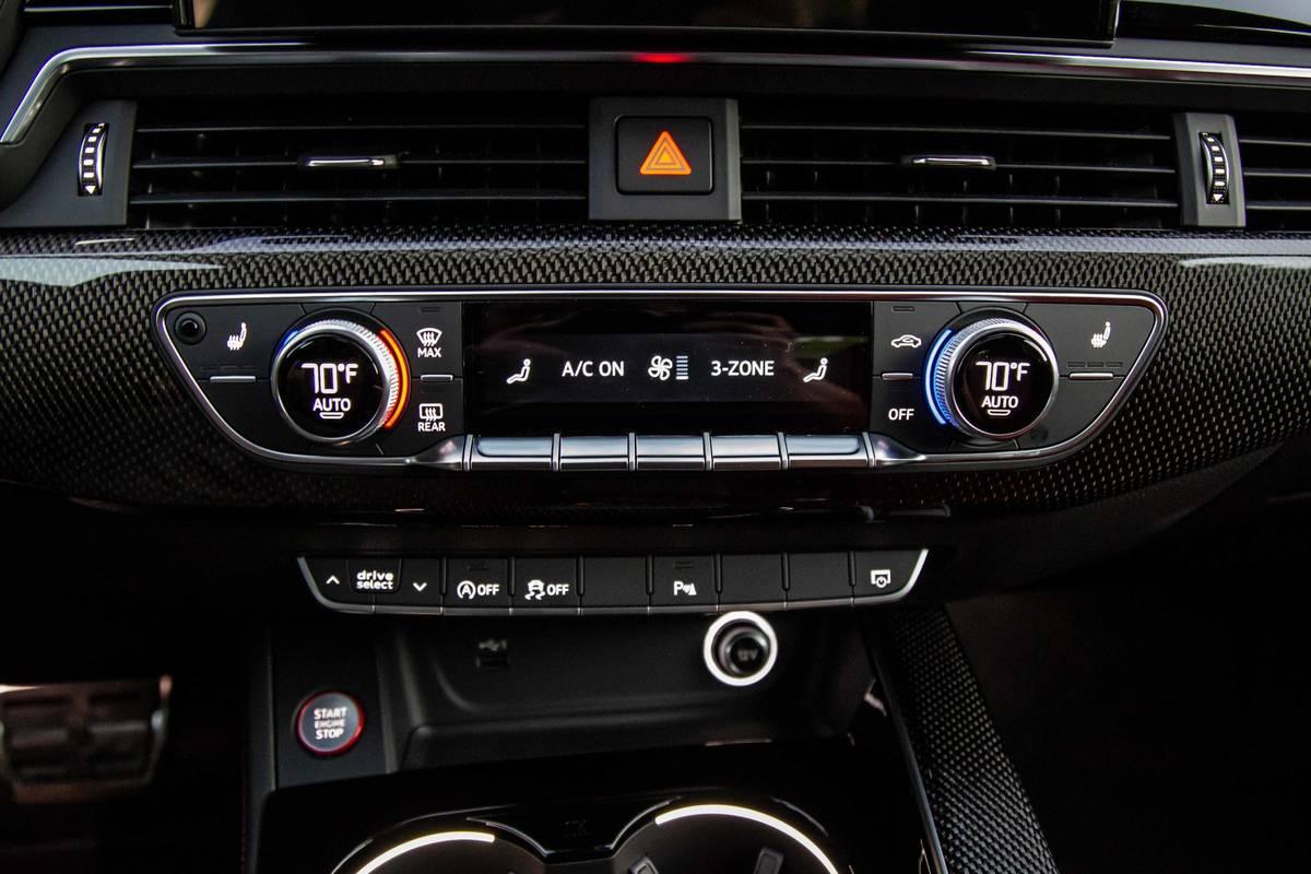 2020 Audi S4 climate controls