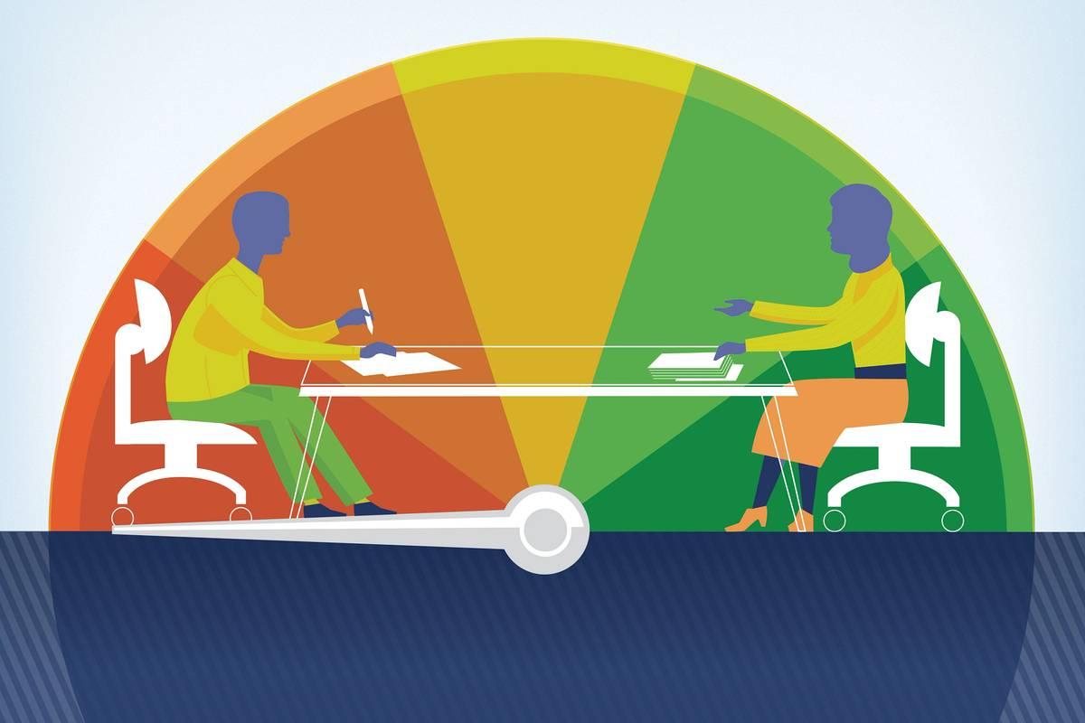 Car negotiating table illustration