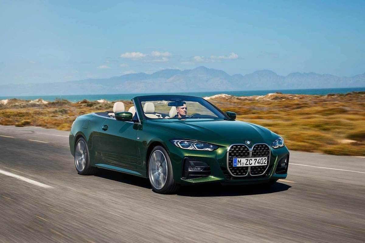 Green 2021 BMW 4 Series convertible