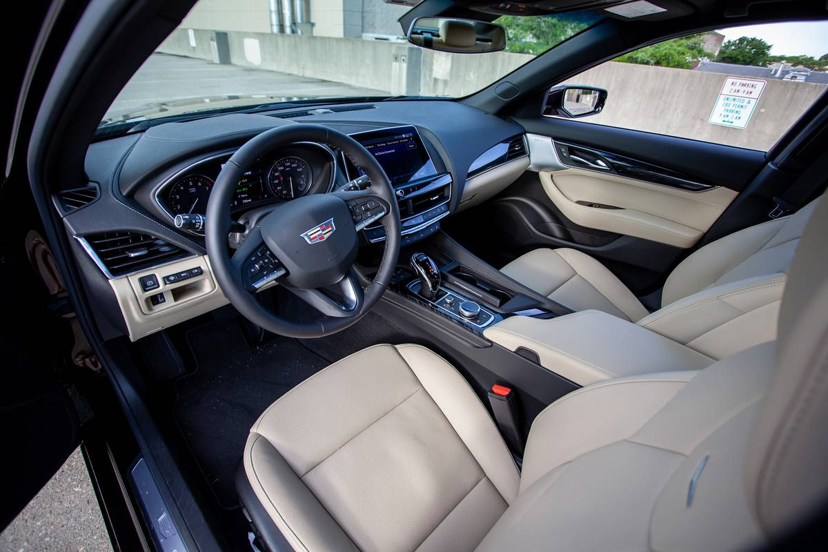 2020 Cadillac CT-5 front row seats and dashboard