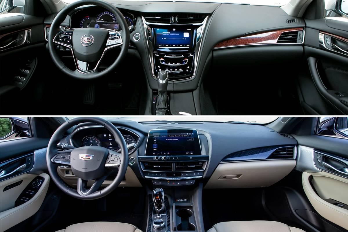 2020 Cadillac CTS 3.6 dashboard above the 2020 Cadillac CT5 dashboard