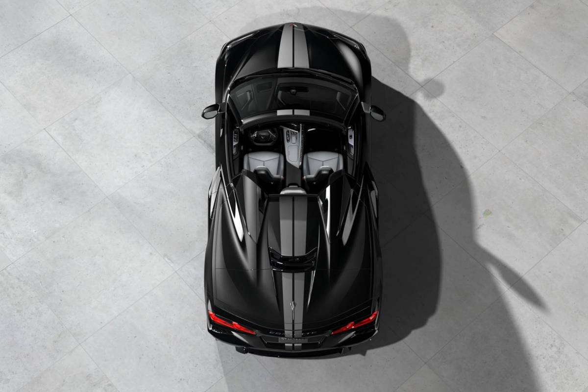 2020 Chevrolet Corvette aerial view