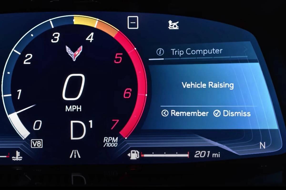 2020 Chevrolet Corvette C8 instrument panel