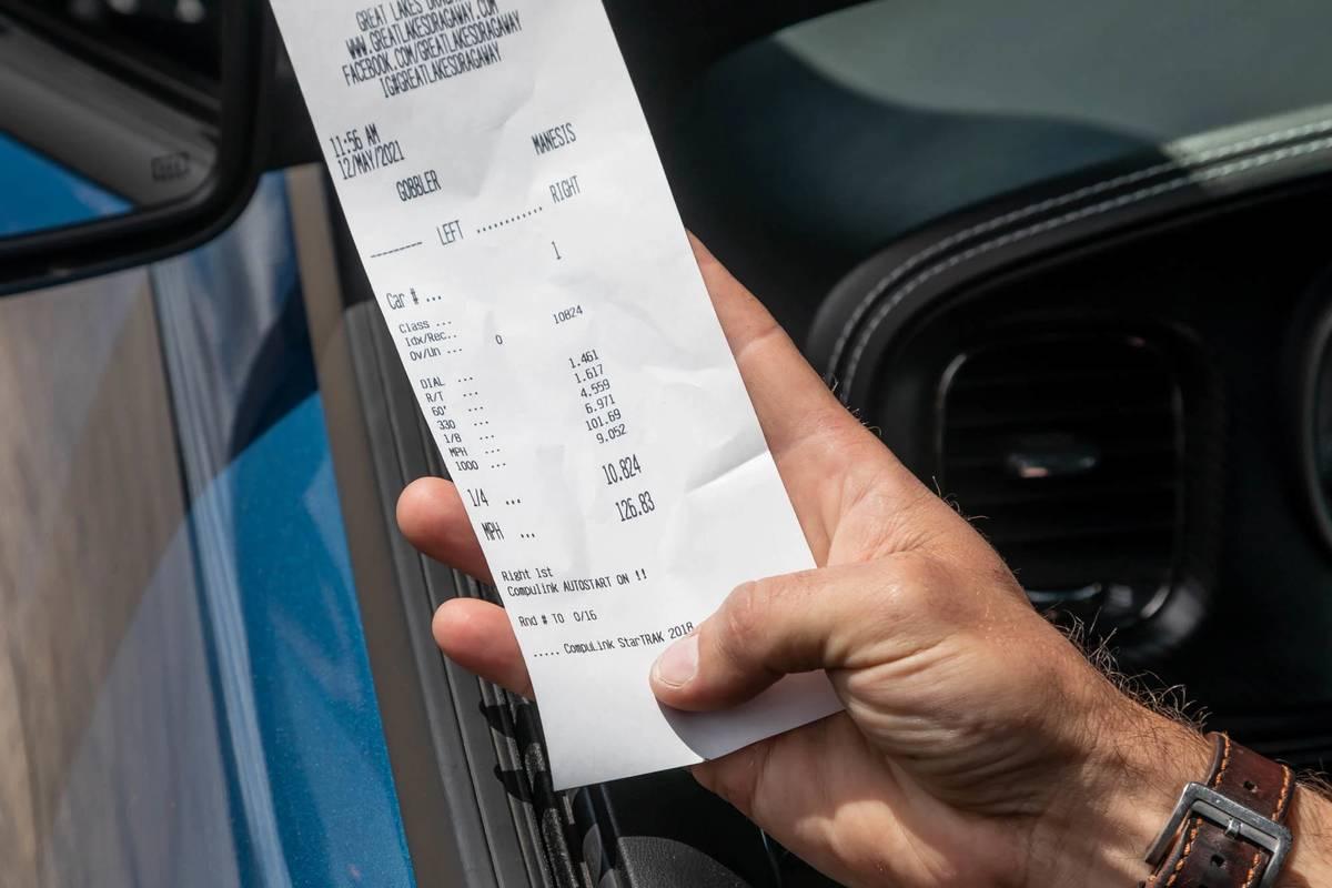 2021 Dodge Charger SRT Hellcat Redeye data receipt