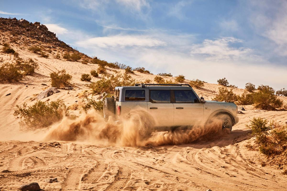 2021 Ford Bronco off-roading in a desert