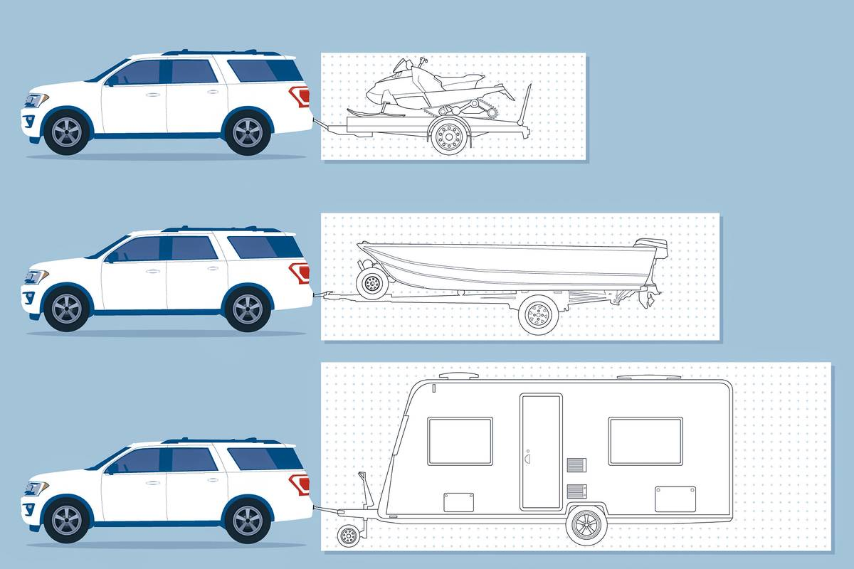 Ford Expedition towing illustration