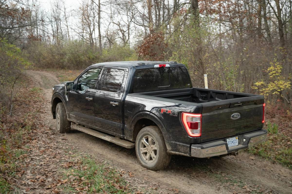 Black 2020 Ford F-150 off-roading