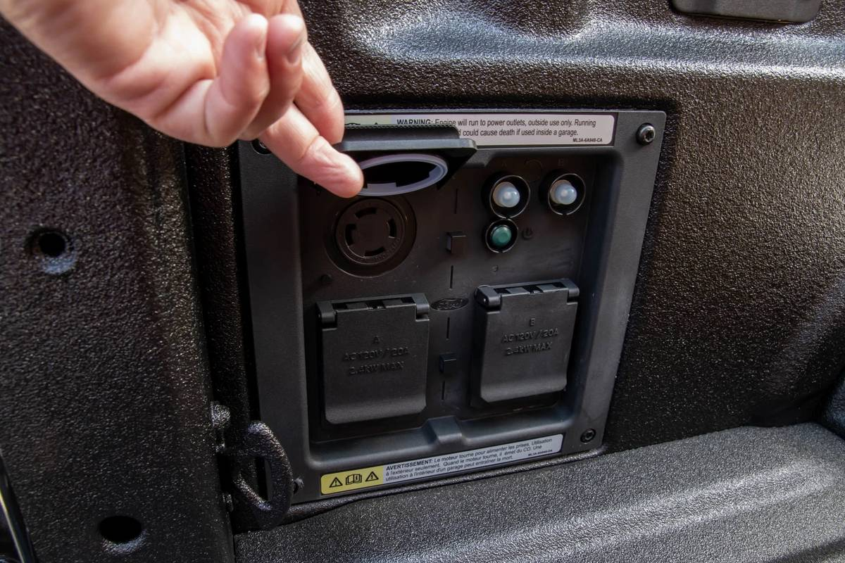 2021 Ford F-150 bed outlet