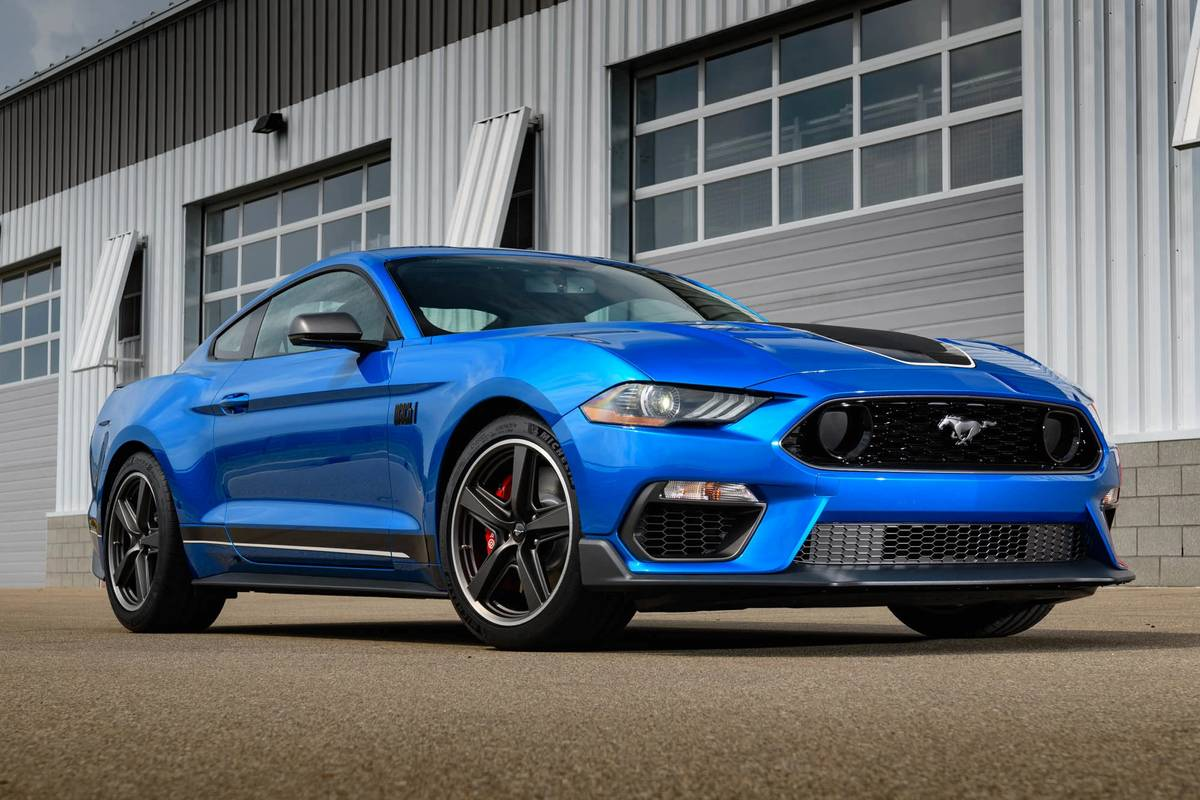 Blue 2021 Ford Mustang Mach 1