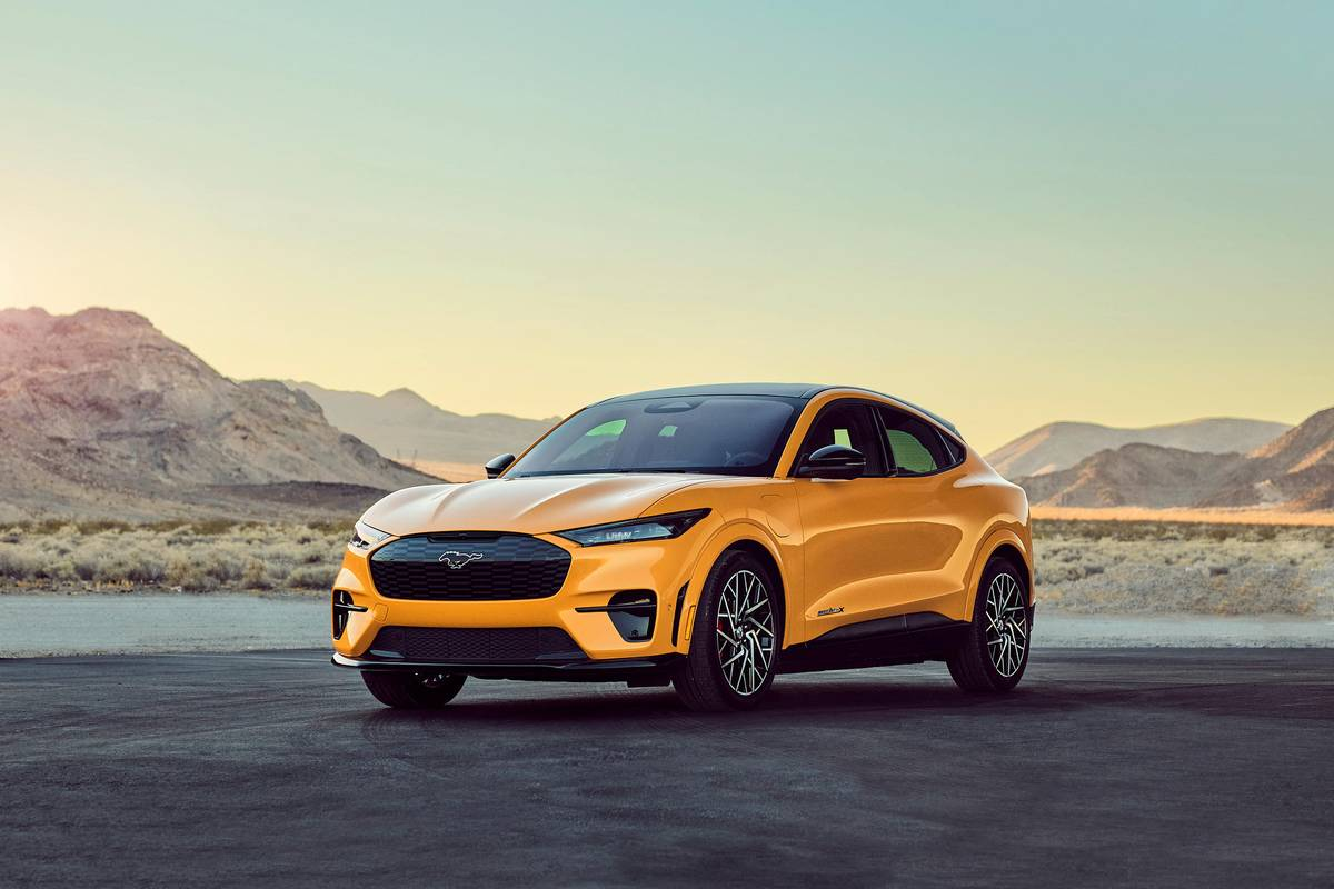 Yellow 2021 Ford Mustang Mach-E GT Performance Edition