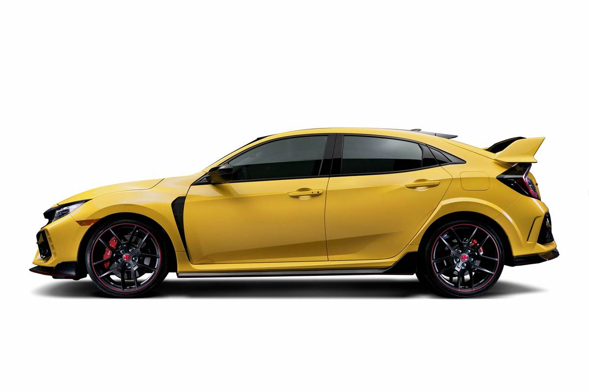2021 Honda Civic Type R Limited Edition in yellow
