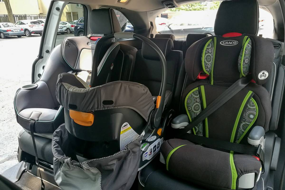Car seats in a 2021 Honda Odyssey