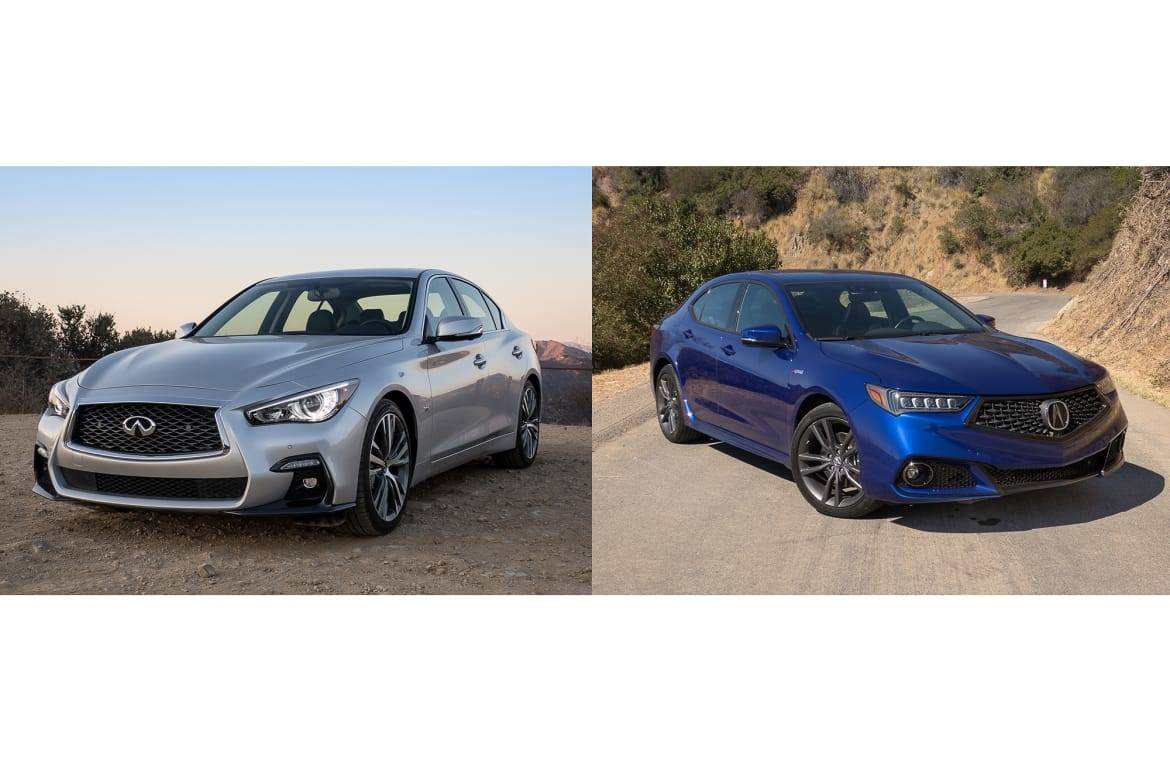 Acura Tlx A Spec Earns Re Spect Over Infiniti Q50 News Cars Com