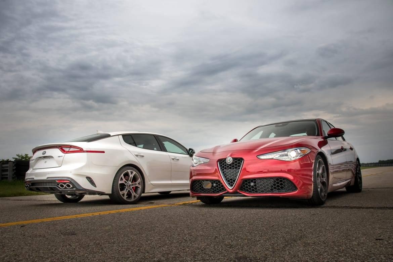 Kia Stinger GT Vs. Alfa Romeo Giulia Ti: Who Does Luxury and Lap Times Best?
