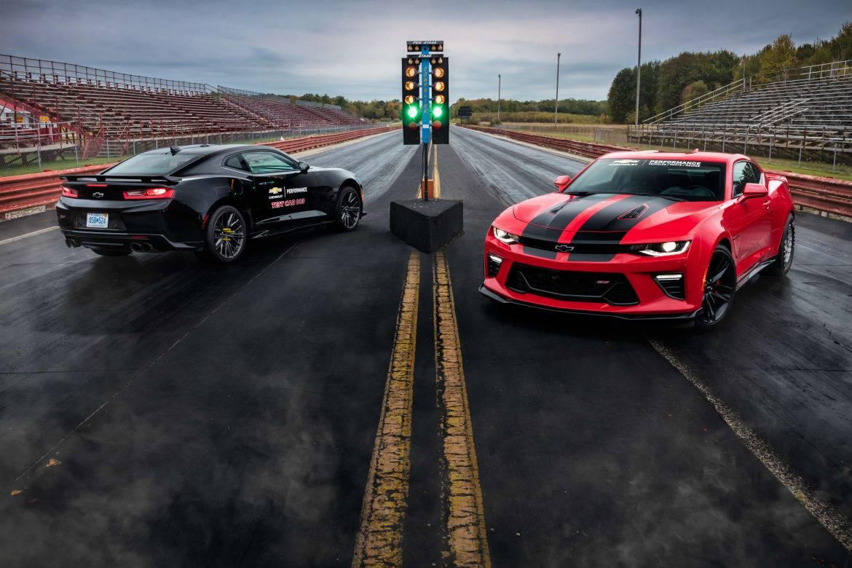 Chevy's Demon-Fighting Camaro Dragster Lights Up SEMA