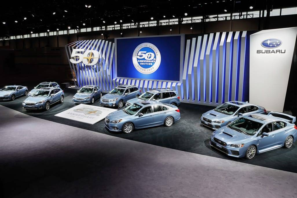 Subaru Marks 50 Years in U.S. With Special Editions of Every Vehicle