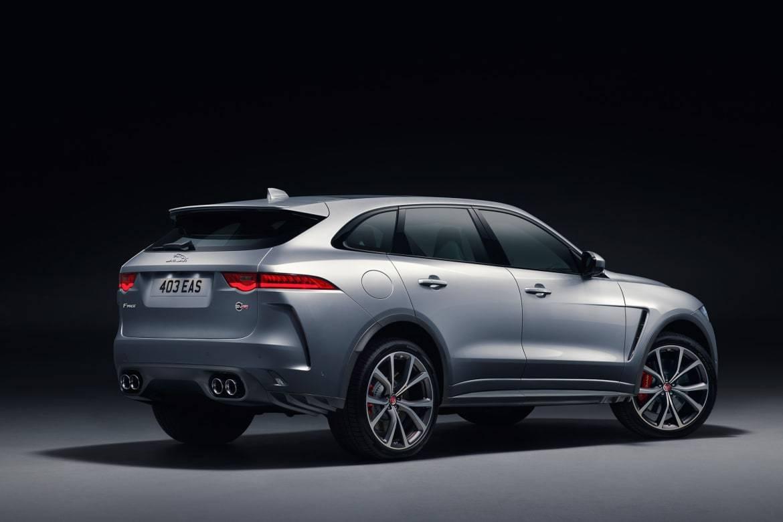 02-jaguar-f-pace-svr-2019-angle--exterior--rear--silver--studio.