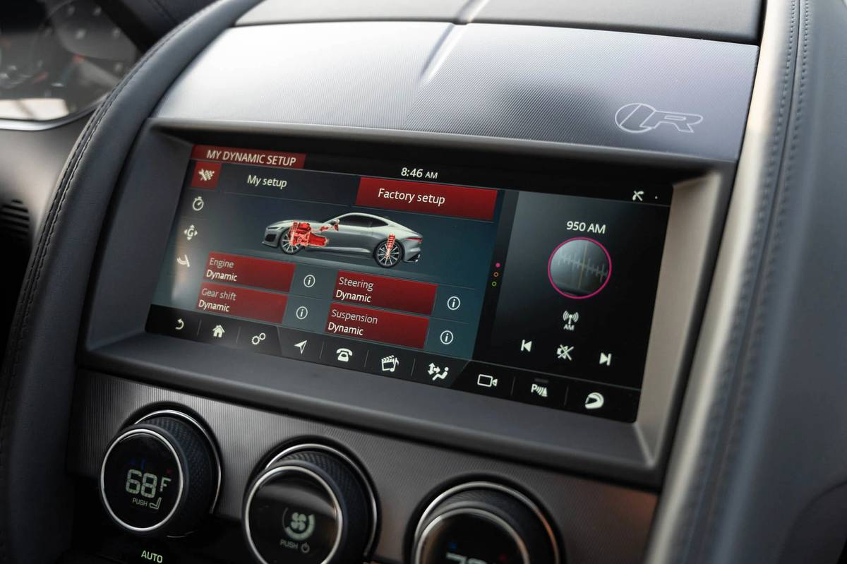 2021 Jaguar F-Type touchscreen
