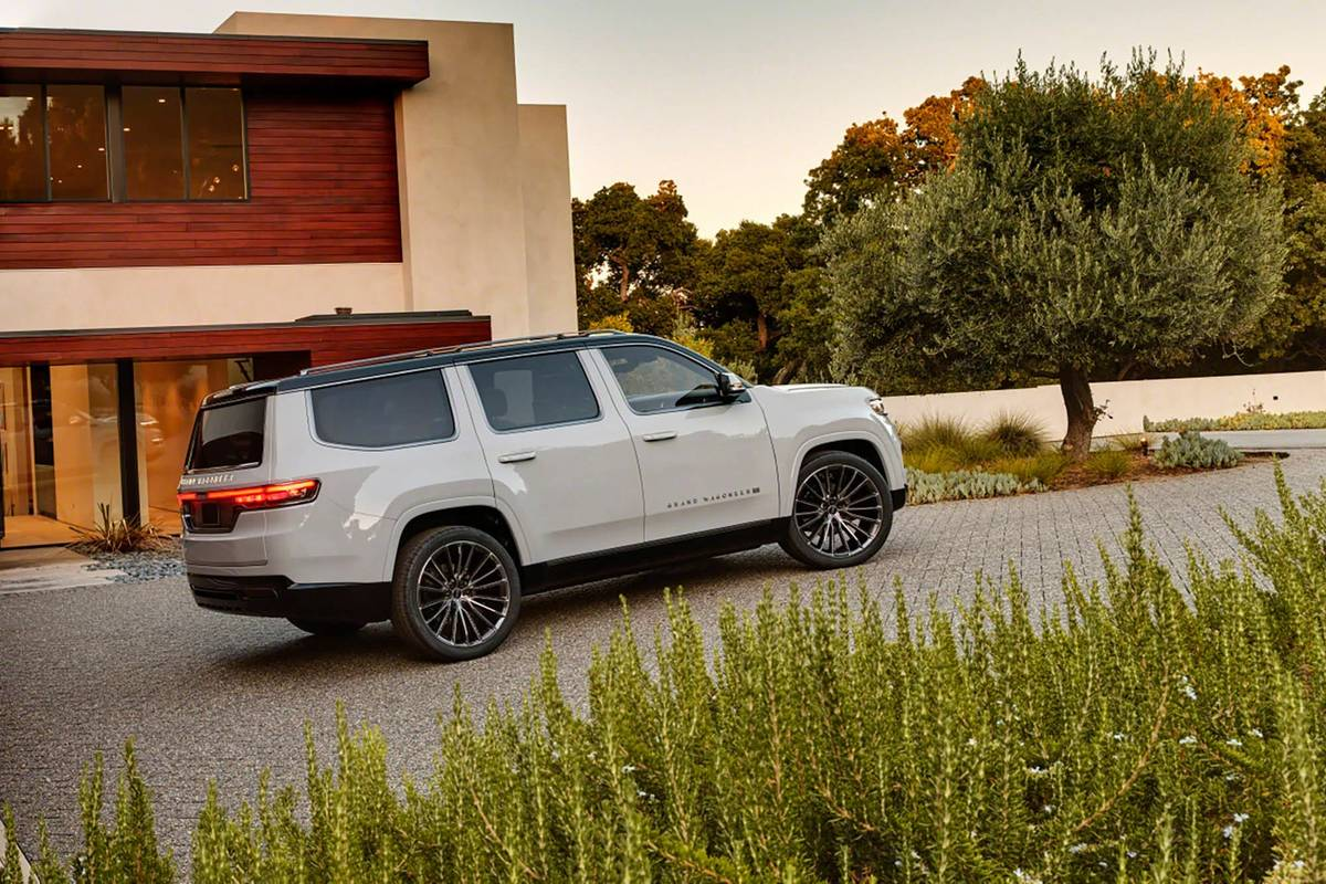 Silver Jeep Grand Wagoneer Concept side view