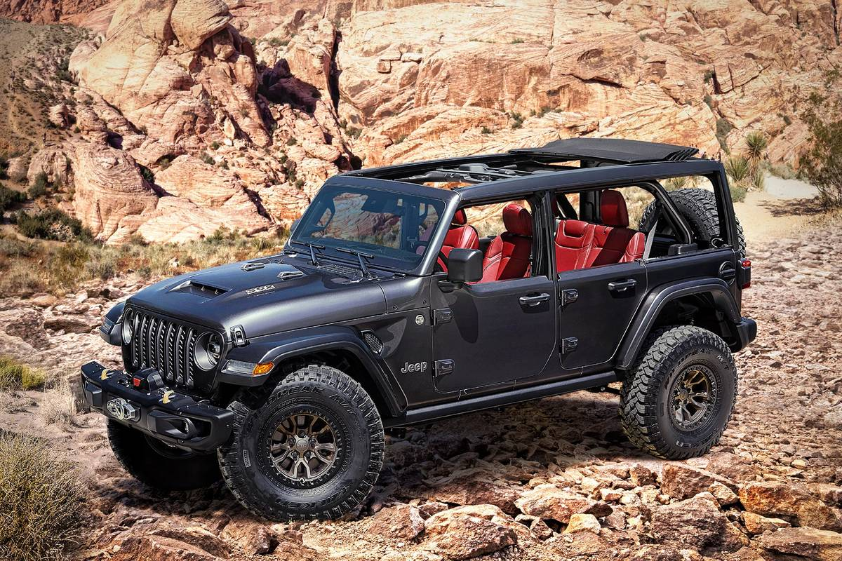 Jeep Steps on Bronco's Hooves With Wrangler Rubicon 392 Concept Debut
