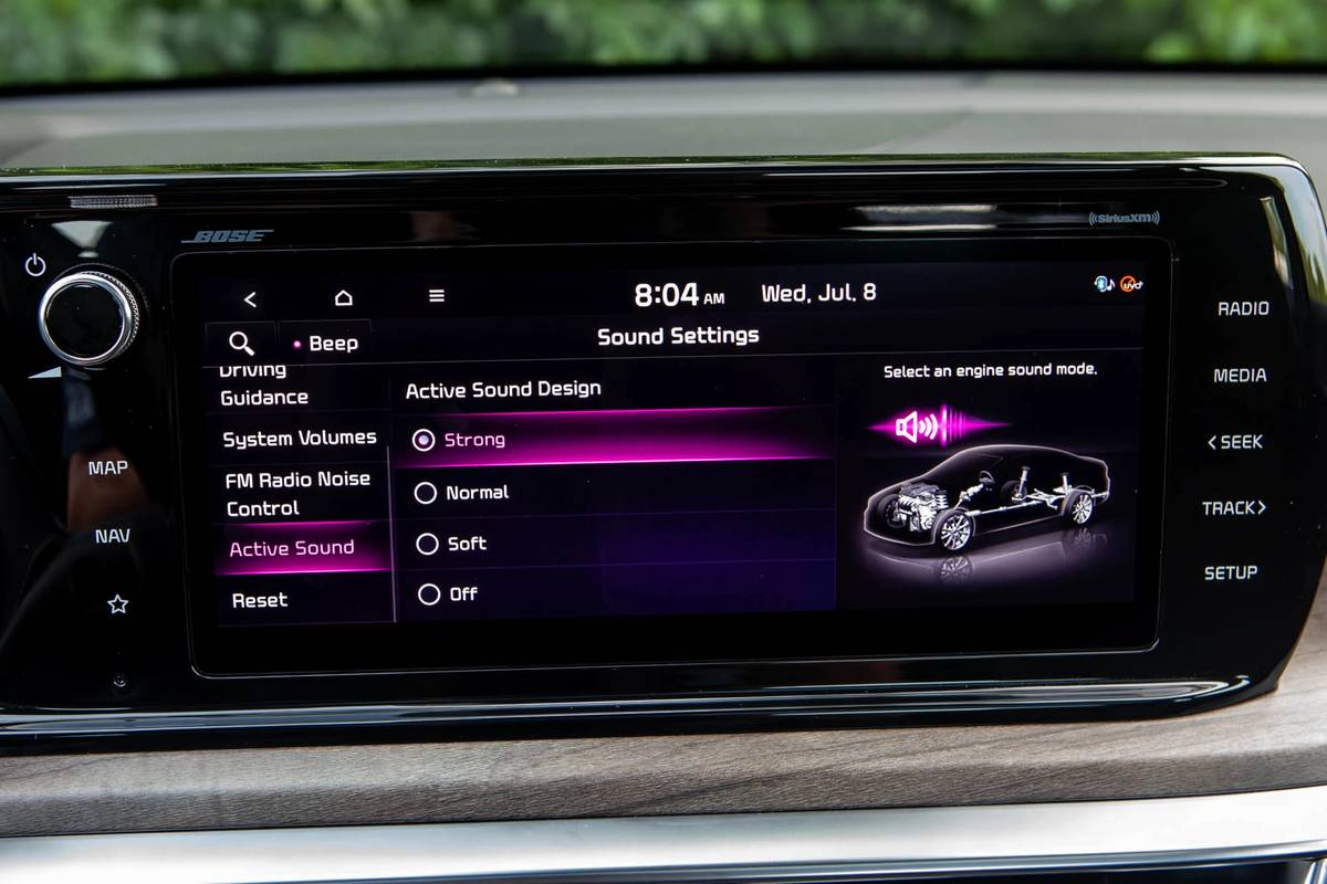 2021 Kia K5 GT Line center stack display screen