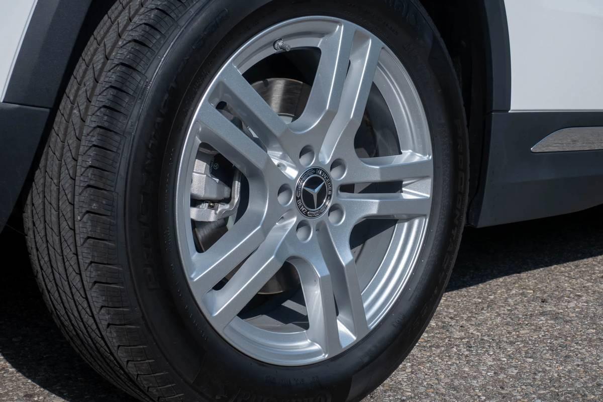 A 2021 Mercedes-Benz GLA 250 tire