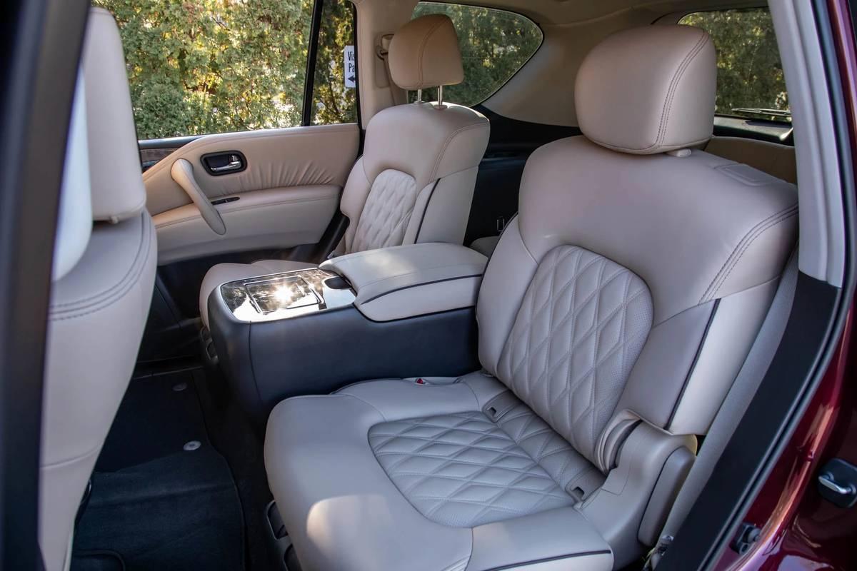 2021 Nissan Armada second-row seats