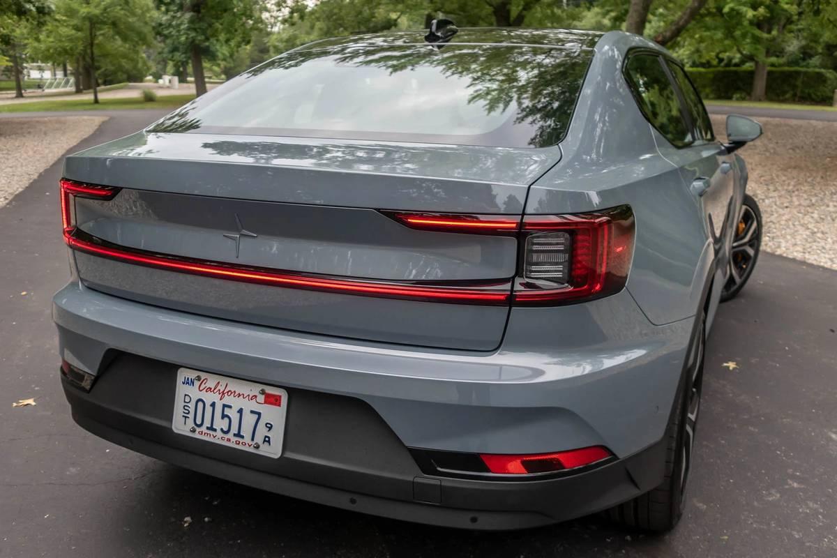 2021 Polestar 2 rear view