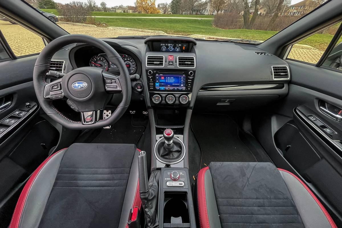 2020 Subaru WRX STI Series White dashboard