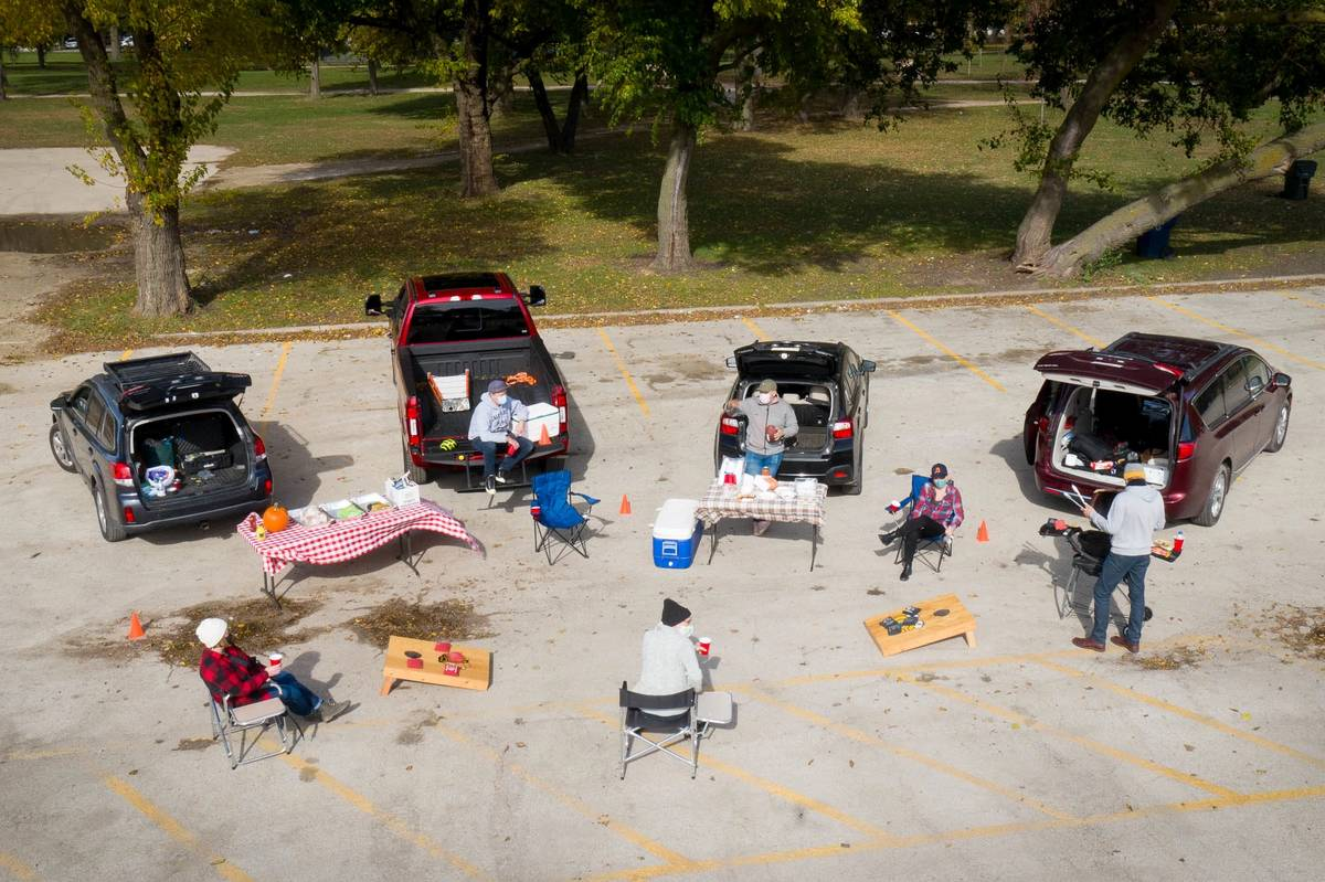 A socially distanced tailgate