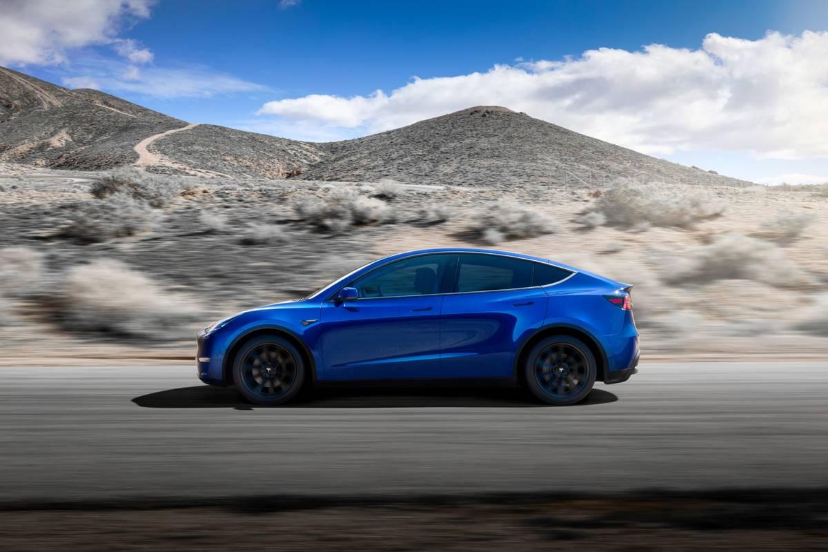 Blue 2020 Tesla Model Y