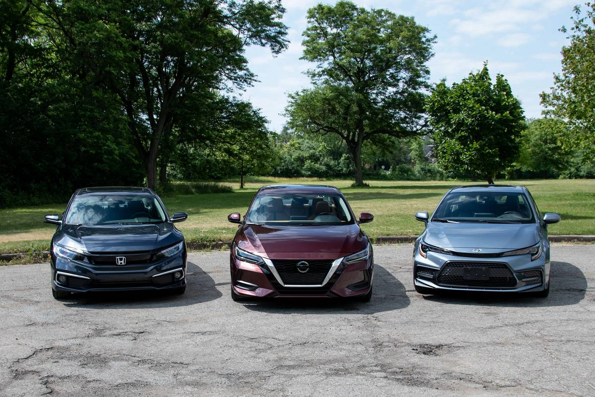 2020 Compact Sedan Challenge Video: Honda Civic Vs. Nissan Sentra Vs. Toyota Corolla