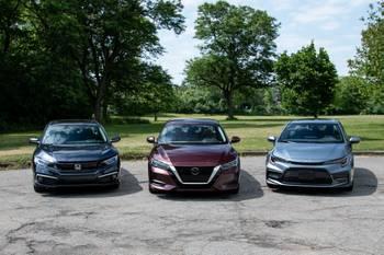 2020 Compact Sedan Challenge Video: Honda Civic Vs. Nissan Sentra Vs. Toyota Corolla