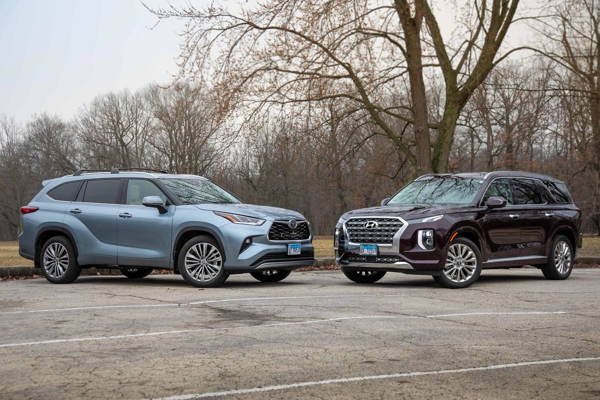Hyundai Palisade Vs. Toyota Highlander Video: 3-Row SUV Foes Go Toe-to-Toe