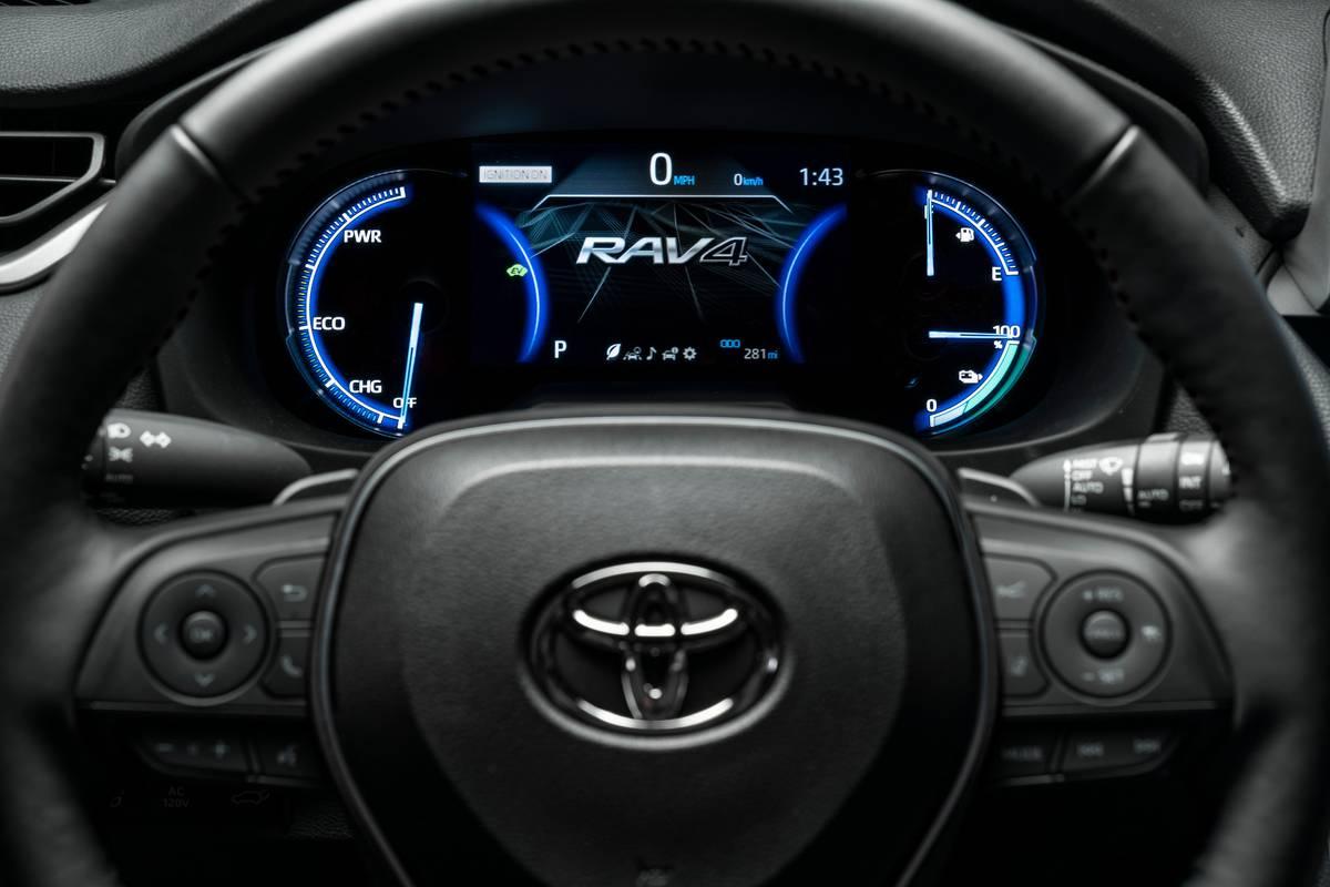 2021 Toyota RAV4 steering wheel and instrument panel