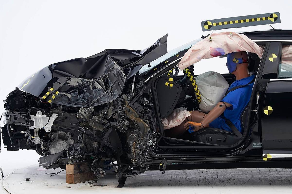 2019 Volkswagen Arteon after a front-end crash test