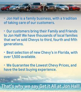 jon hall chevrolet in daytona beach including address, phone, dealer