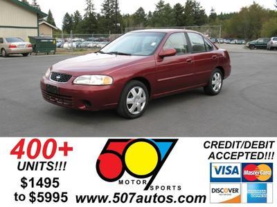 2002 Nissan Sentra XE for sale VIN: 3N1CB51A72L552907