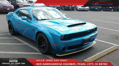 2018 Dodge Challenger SRT Demon for sale VIN: 2C3CDZH92JH102572
