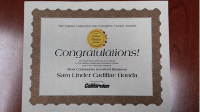 Sam Linder Honda Image 1