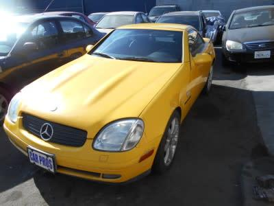 1999 Mercedes-Benz SLK-Class SLK230 Kompressor for sale VIN: WDBKK47F9XF125041