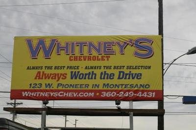whitney s chevrolet in montesano including address phone dealer reviews directions a map inventory and more whitney s chevrolet in montesano