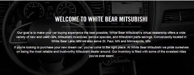 White Bear Mitsubishi Image 2