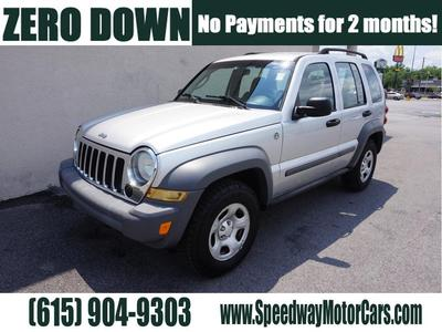 2006 Jeep Liberty Sport for sale VIN: 1J4GL48K26W139890